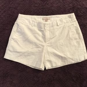 Banana Republic white dress shorts
